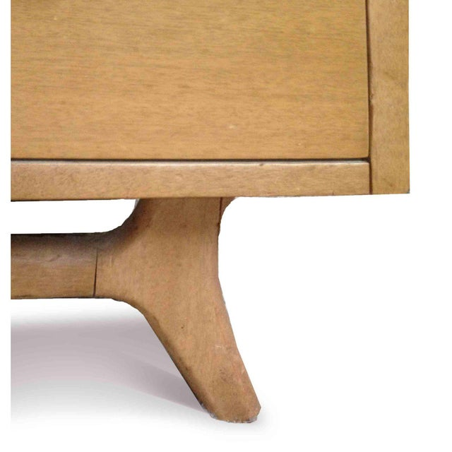 RWAY 1950s Vintage R-Way Mid-Century Modern Trapezoid Highboy For Sale - Image 4 of 9