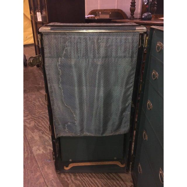 Antique Hartmann Wardrobe Steamer Luggage For Sale - Image 9 of 12
