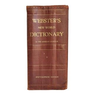 Vintage Webster's New World Dictionary Book For Sale