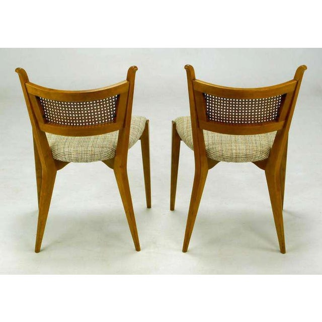 Textile Set Six Edmond Spence Swedish Dining Chairs For Sale - Image 7 of 11