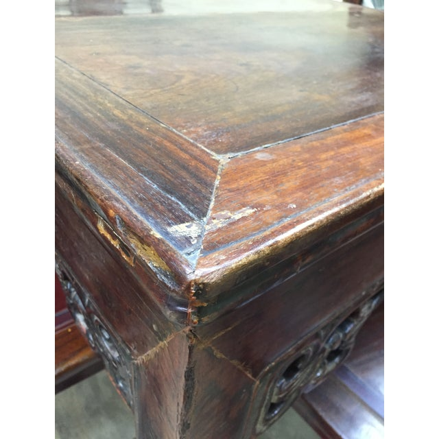 Late 19th Century Antique Chinese Gaming Table & Chairs- 5 Pieces For Sale In Washington DC - Image 6 of 13