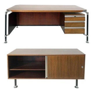 Desk and Sideboard by Ico Parisi for m.i.m Roma, 1960s For Sale