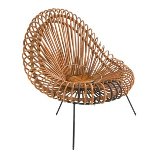 Janine Abraham and Dirk Jan Rol Rattan Lounge Chair for Rougier For Sale