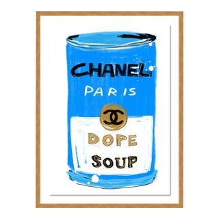 Chanel Dope Soup by Annie Naranian in Gold Frame, Small Art Print For Sale