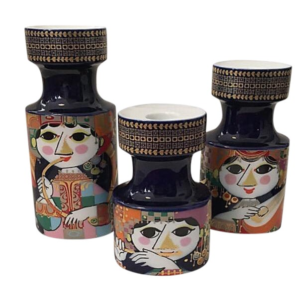 Bjorn Wiinblad Candle Holders - Set of 3 For Sale