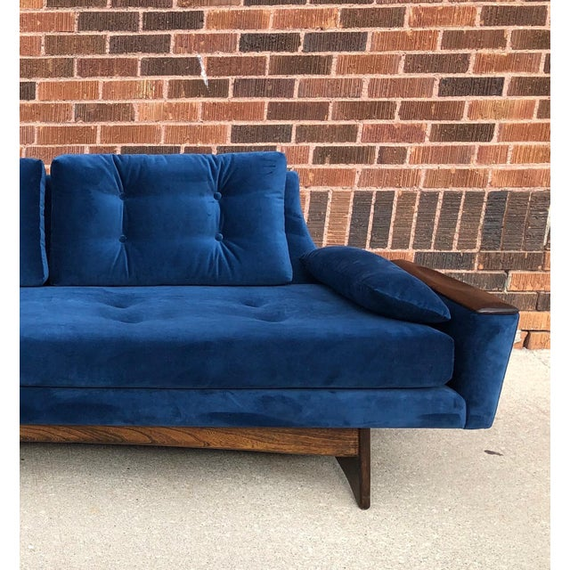 Blue Vintage Mid-Century Sofa For Sale - Image 8 of 10