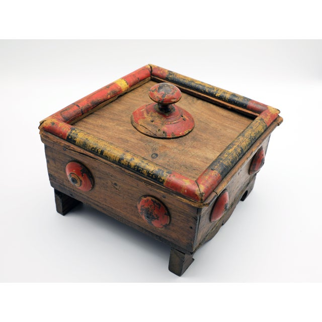 19th Century Antique Afghan Wood Spice Box For Sale - Image 13 of 13