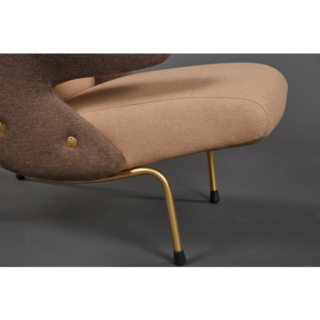 """Tan Pair of """"Delfino"""" Armchairs by Erberto Carboni Manufactured by Arflex For Sale - Image 8 of 10"""