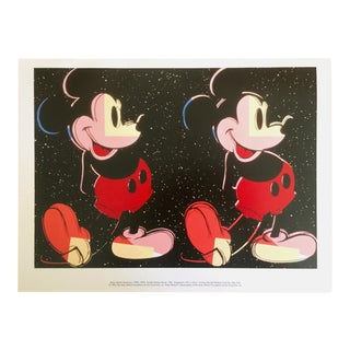 "Andy Warhol Foundation Rare 1995 Lithograph Print Pop Art Poster "" Double Mickey "" 1981 For Sale"