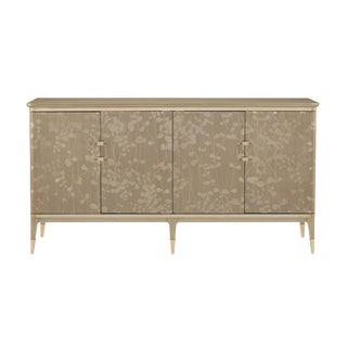 Caracole Turn a New Leaf Gold Floral Console