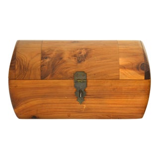 Vintage Domed Wood Box For Sale