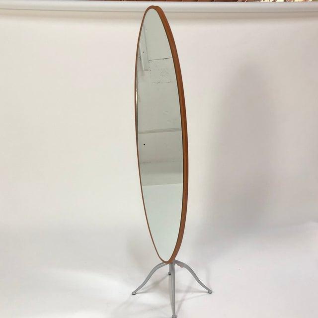 Calligaris Italian Contemporary Oval Shaped Floor Mirror | Chairish