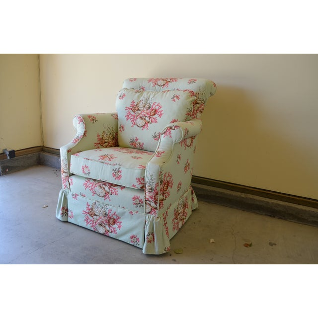 Scalamandre Chintz Upholstered Club Chair - Image 4 of 6