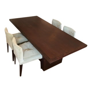 Christian Liaigre Dining Table & Chairs - Set of 5