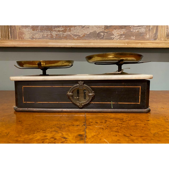 French Late 19th Century Napoleon III Marble Balance Scale For Sale - Image 3 of 7