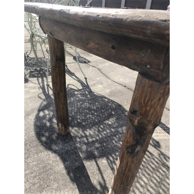 Rustic Rustic Adirondack Work or Side Table For Sale - Image 3 of 13