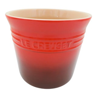 Contemporary Le Creuset 2.25 Quart Red Utensil Crock or Caddy For Sale