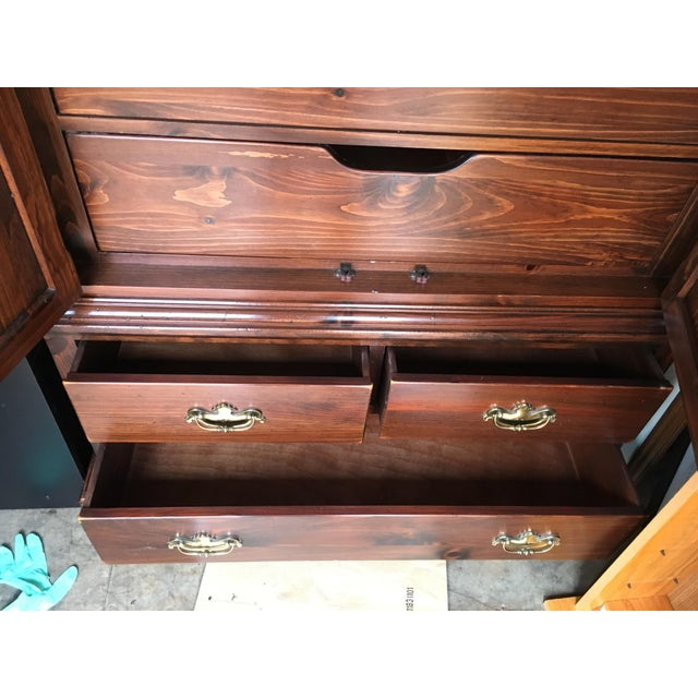 Ethan Allen Mahogany Armoire - Image 8 of 11