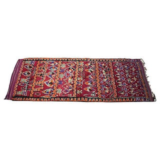 Vintage Moroccan Beni M'Guild Rug - 14'6'' X 5'9'' For Sale