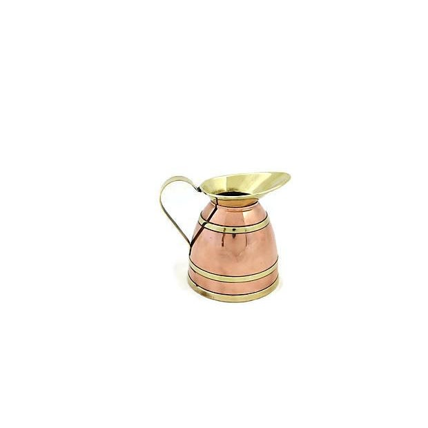 Metal English Copper Banded Jug For Sale - Image 7 of 7