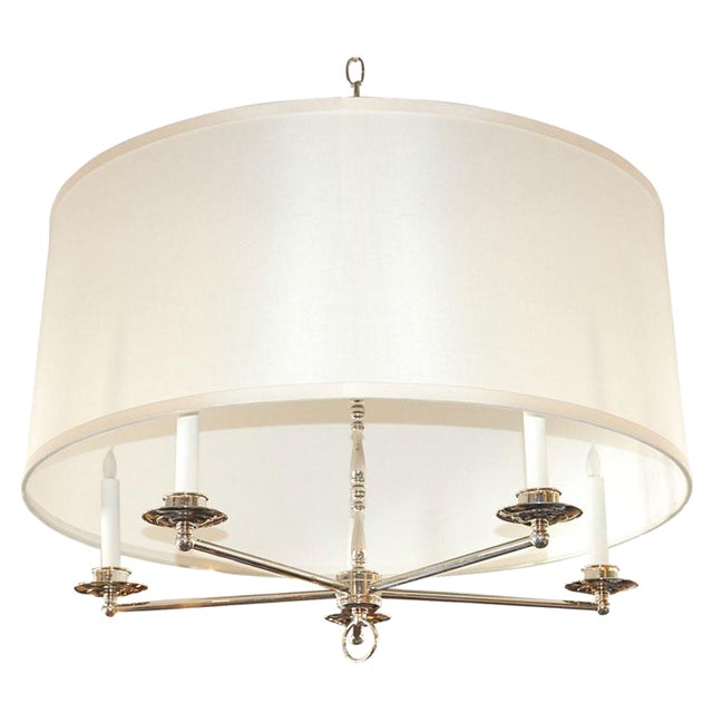 Paul Marra Design Five Arm Shaded Chandelier - Image 1 of 9