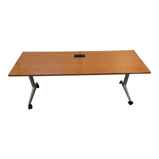 Contemporary Akira by Coalesse for Steelcase Multipurpose Flip Top Table For Sale