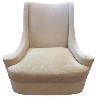 Traditional Barbara Barry Cream Upholstered Joan Armchair For Sale