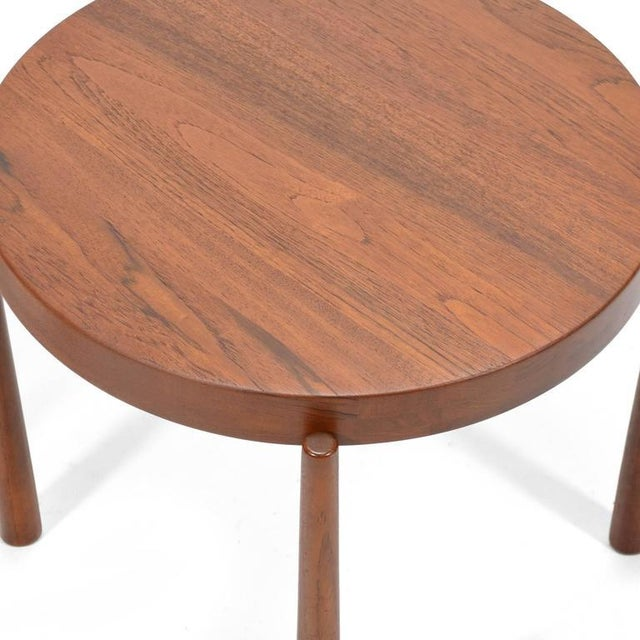 Swedish Solid Teak Flip-Top Tables in the Manner of Jens Quistgaard For Sale In Chicago - Image 6 of 11