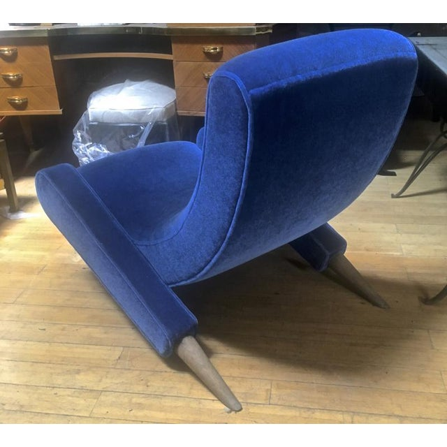 "Jean Royere Stunning Documented Pair of Lounge Chairs Model ""Varsano"" For Sale - Image 11 of 13"