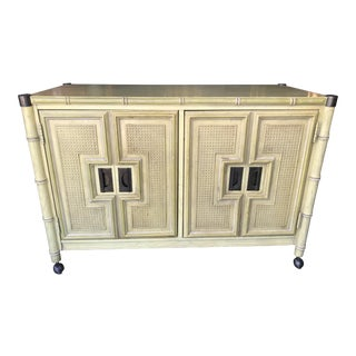 Vintage Stanley Faux Bamboo Sideboard For Sale