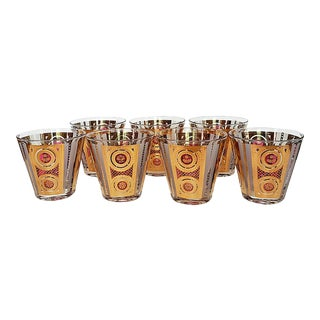 1960s Regency Georges Briard Cocktail Glasses - Set of 7 For Sale