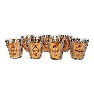 1960s Regency Georges Briard Cocktail Glasses - Set of 7