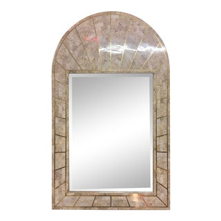 Maitland Smith Tessellated Stone Mirror With Brass Inlay For Sale