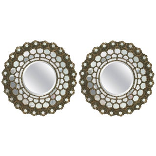 Pair of Indian Mirror, 1970s, Indian For Sale