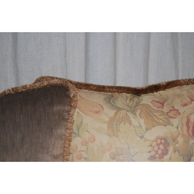 Traditional Vintage Bennison Fabric Pillows - Set of 3 For Sale - Image 3 of 4