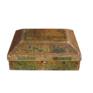18th Century Italian Box with Painted Scene