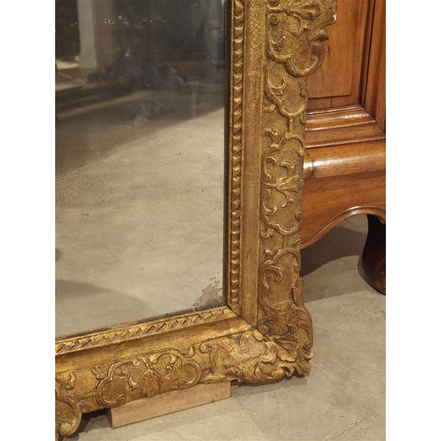 French Period Louis XIV Giltwood Mirror, Circa 1700, Provence For Sale - Image 3 of 11