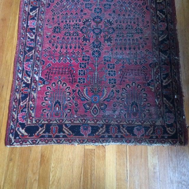 "Vintage Persian Sarouk Rug - 3'4"" X 4'10"" - Image 3 of 7"