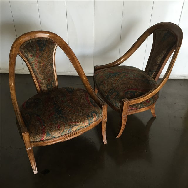 Vintage Bohemian Occasional Chairs - A Pair - Image 6 of 7