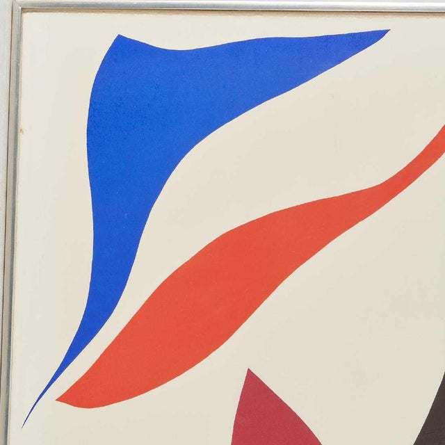 Abstract 1970s Vintage Ray Parker Large Abstract Screenprint For Sale - Image 3 of 7