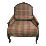Image of Classic Plaid Ralph Lauren Club Chair For Sale
