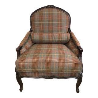 Classic Plaid Ralph Lauren Club Chair For Sale