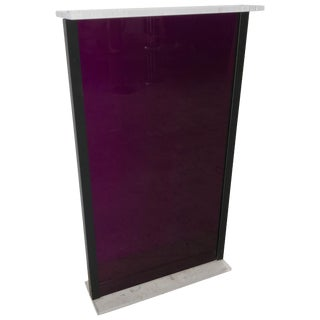 Postmodern Purple Lucite Pedestal From the Versace Store in Miami Beach For Sale