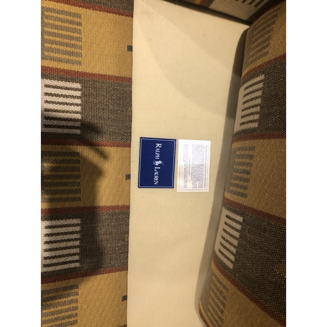 Ralph Lauren Blue Label English Roll Arm Chair in a Southwestern Themed Upholstery For Sale In Boston - Image 6 of 7