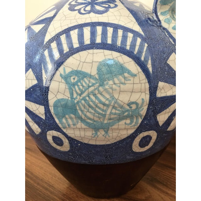 19th Century Glazed Pitcher in Blues and White - Image 7 of 7