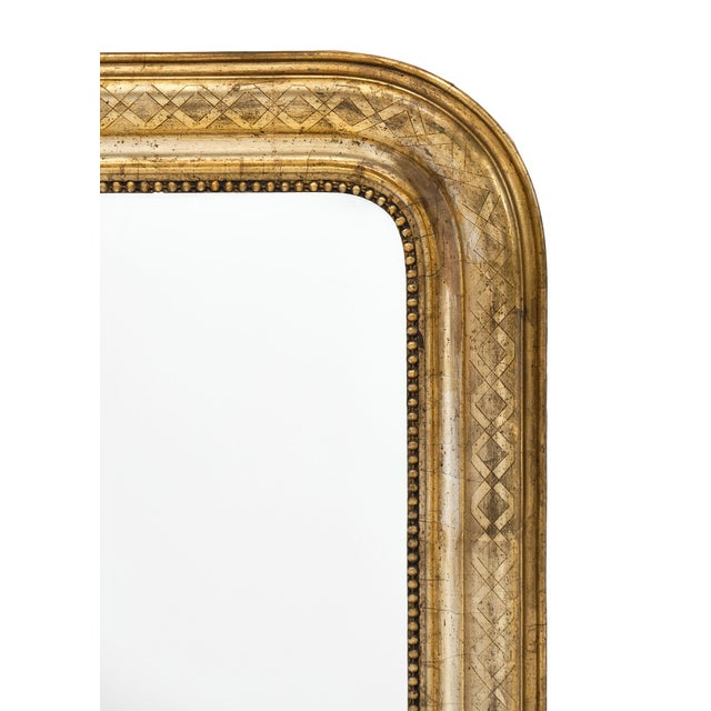 Mid 19th Century Antique French Louis Philippe Period Mirror For Sale - Image 5 of 10