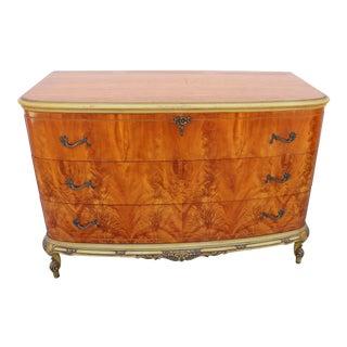 1930s French Burl Tiger Oak Dresser For Sale