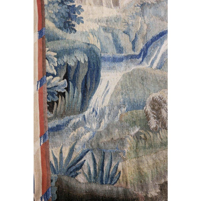 Textile Aubusson Landscape Tapestry For Sale - Image 7 of 9