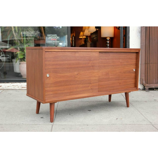 Not Yet Made - Made To Order Mid-Century Style Walnut Credenza For Sale - Image 5 of 11