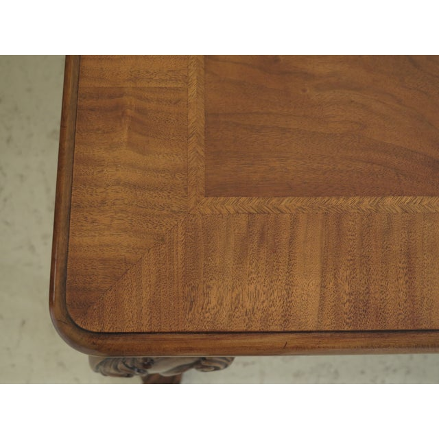 1980s Traditional Karges Ball & Claw Walnut Dining Room Table For Sale In Philadelphia - Image 6 of 13